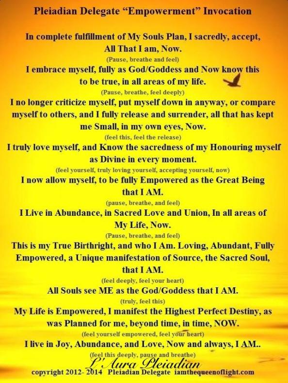 Empowerment Invocation