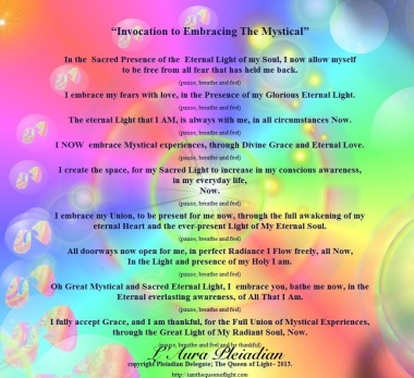 Invocation To Embracing The Mystical