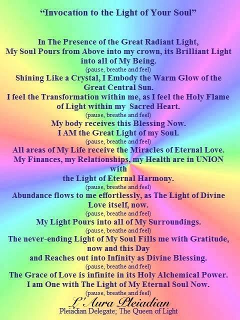 Invocation to The Light of Your Soul
